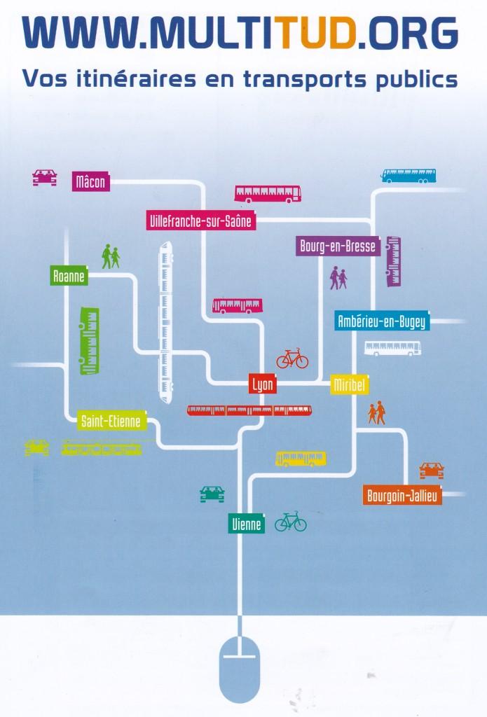 itinéraires en transport public