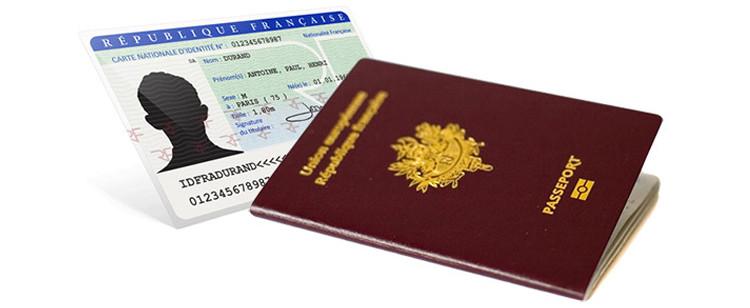Formalités Passeport carte d'identité